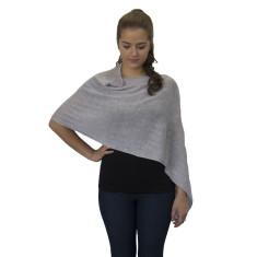 Silver grey lightweight wool poncho