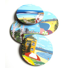 Vintage inspired WA coasters (set of 4)