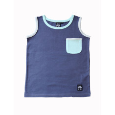 Boys' singlet in navy blue