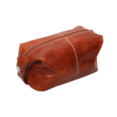 Tino-pop honey leather toiletry bag