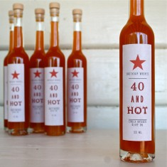 Forty and hot chilli oil
