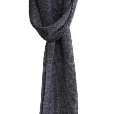 Unisex charcoal merino scarf