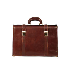 Donatello brown leather briefcase laptop bag