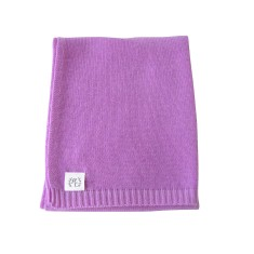 Cashmere plain knit baby blanket in lavender