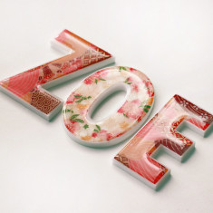 Personalised girls' name letters
