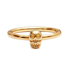 Gold-plated skull ring