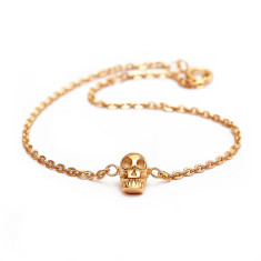 Skull Chain Bracelet (Various Colours)