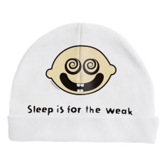 Sleep is for the weak baby beanie