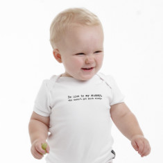 Be nice to my mummy, she doesn't get much sleep baby romper