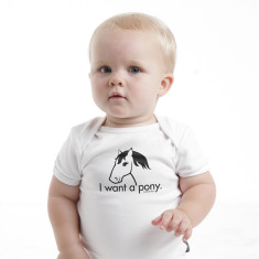 I want a pony baby romper