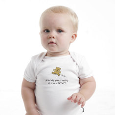 Baby Romper - Nobody puts Teddy in the corner