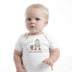 Toto I've got a feeling we're not in the womb anymore baby romper