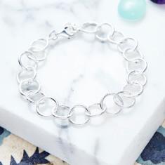 Jaisalmer Link Chain Bracelet In Silver
