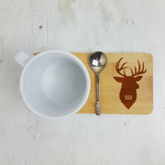Personalised Stag's Head Mug Coaster