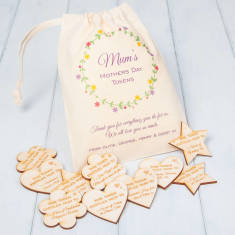 Personalised Mother's Day Tokens And Gift Bag