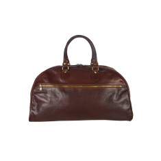 Vinci leather duffel bag in chocolate