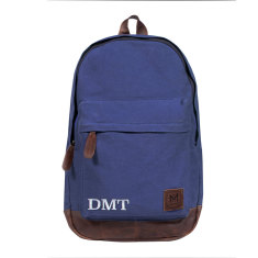 Leather & Canvas Backpack / Rucksack in Blue
