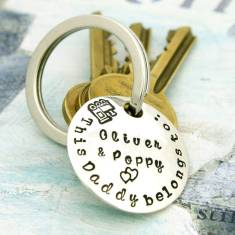 This Daddy belongs to…Children's Names Key Ring
