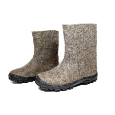 Women's Wool Boots In Brown