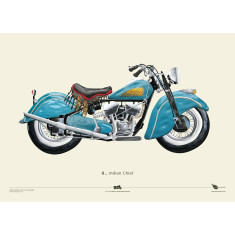 Indian Chief motorcycle poster