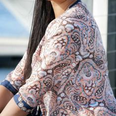 Peach razzmatazz Sonya silk blouse