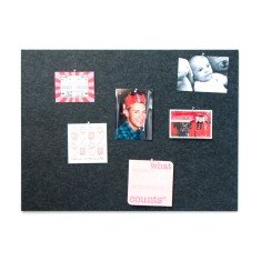 Rectangle pin board in charcoal or grey