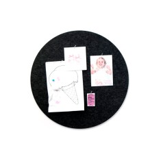 Round pin board in charcoal or grey