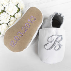 Personalised christening shoes with initial