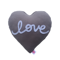 Love cushion (pink or grey)