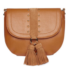 IL TUTTO LANA LEATHER HANDBAG IN TAN