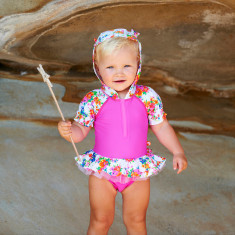 Tallulah baby hooded one-piece swimsuit
