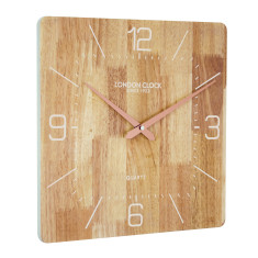 London Clock Company Flux Solid Wood Wall Clock 35cm