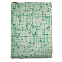 Green print iPad case