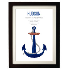 Ships Anchor Birth Print