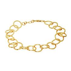 Jaisalmer Link Chain Bracelet In Gold Plate