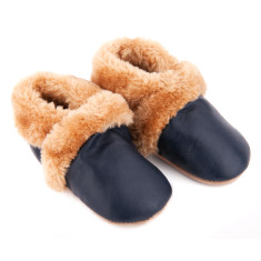 Fur Lined Pre-walker in Navy