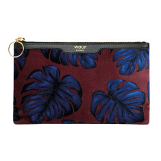Wouf pocket clutch in leaves print