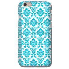 Damask aqua iPhone 4/5/6 case