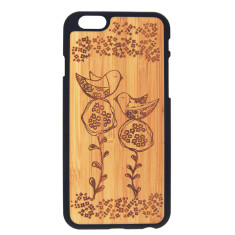 Two birds bamboo iPhone 4, 5 , 6 and 6+ case