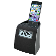 iHome iPL22 FM clock radio with lightning connector for iPhone/iPod