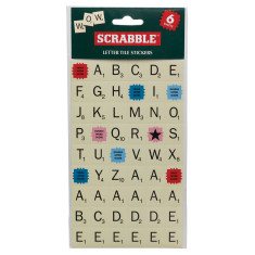 Scrabble sticker sheet