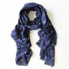 All stars scarf in Navy