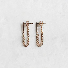 Alexa earrings in gold