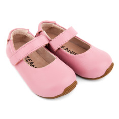 Mary-Jane shoes in matt pink