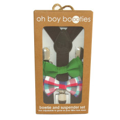 Mr Maxwell baby and toddler bowtie and suspender set