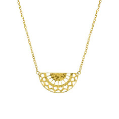 Ottoman necklace in 18 kt yellow gold plate