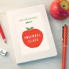 Personalised Thank You Teacher Apple Notebook