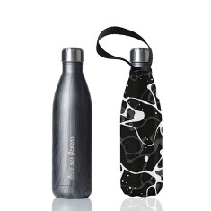 Stainless steel future bottle with carry cover in pool print