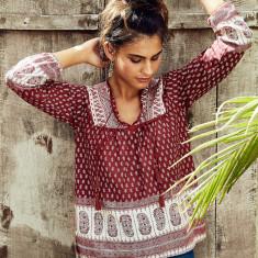 Bindi quilted bib blouse