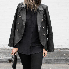 Billie Leather Blazer